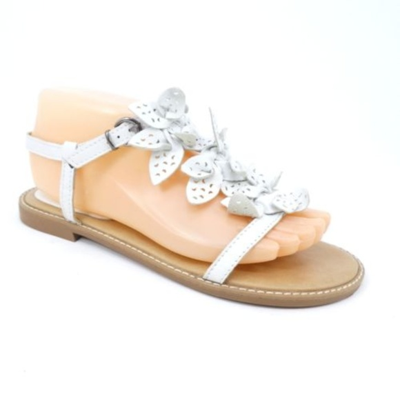 833199b9ee41 ALDO Shoes - Aldo T-Strap White Leather Open Toe Flat Sandals